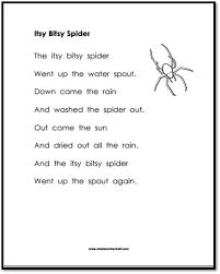Itsy Bitsy Spider Printable Poem | A to Z Teacher Stuff Printable ...