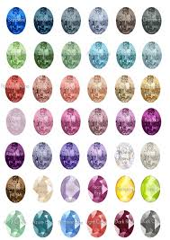 Amethyst Color Chart Oval Crystal Gold Customized Celtini Jewelry