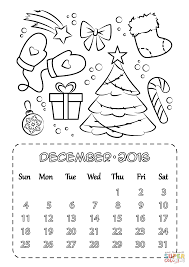 Small Picture December 2016 Calendar coloring page Free Printable Coloring Pages