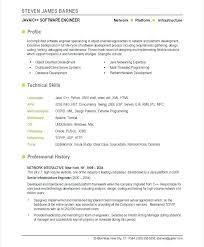 Java Developer Resume Example Letter Resume Directory