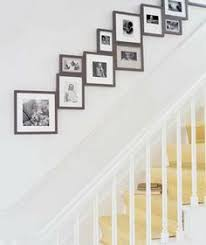 wall art going up the stairs