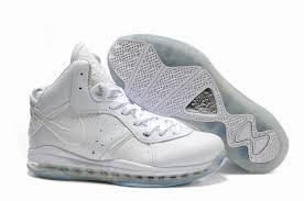 lebron james shoes white. nike air max lebron viii all white shoes james