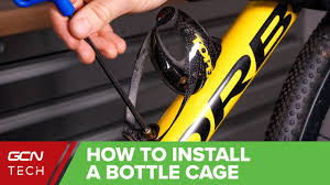 How To Install <b>Bicycle Bottle Cages</b> | Road <b>Bike</b> Basics - YouTube