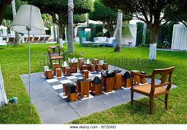 garden chess set. Miami South Beach , Delano Hotel Hand Made Large Chess Set In Garden With Quirky S