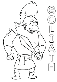 David And Goliath Coloring Page And Coloring Pages David Goliath