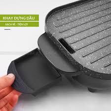 Bếp lẩu nướng nồi lẩu nướng điện Đa Năng 2 Trong 1 Vừa Nướng Vừa Lẩu Tiện  Dụng tiết kiệm điện năng