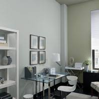 office color. Sophisticated Home Office Painted In A Gray Color Scheme. 2
