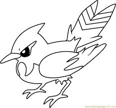 Small Picture Fletchinder Pokemon Coloring Page Free Pokmon Coloring Pages