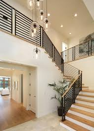 winsome modern stair railing with pendant lighting and ceiling lighting