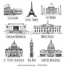 lincoln memorial building clipart. coliseum eiffel tower taj mahal lincoln memorial white house saint peteru0027s building clipart c