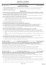 Mechanical Engineering Resume Format Mechanical Engineer Resume