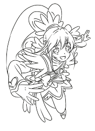 Cure Heart Precure Heart Coloring Pages Coloring Pages