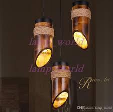 bamboo pendant light. Loft Style Hemp Rope Bamboo Tube Droplight Led Pendant Light Fixtures For Dining Room Hanging Lamp 110v 220v Metal Kits From