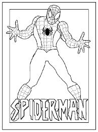 Spiderman Kleurplaat Superhelden Kleurplaten Spiderman En
