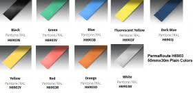 Perma Route H6903-<b>50mmx30m</b> Plain <b>Colors</b> Pantone/RAL UAE