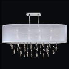 crystal drop chandelier oval shade lifestyles 006mm33sp w 3c