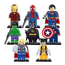 get quotations super heroes avengers iron man hulk batman building block minifigures toy batman iron man fanboy