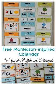 Free Hands On Bilingual Calendar For Children English