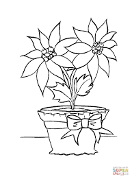 Small Picture Christmas flower in in a pot coloring page Free Printable