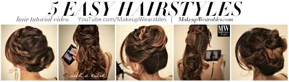 how to 5 minute everyday easy hairstyles hair tutorial