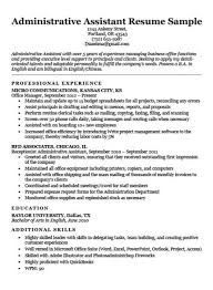 Best Resume For Administrative Assistant Executive Assistant Resume Example Resume Companion