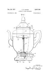 patent us2817743 automatic coffee percolator google patents patent drawing