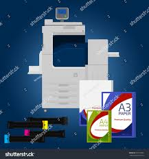 Laser Color Printer White Format Paper Stock Vector 295797986