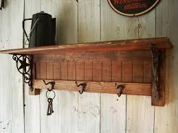 Rustic Wall Coat Rack With Shelf Coat Racks marvellous wall mounted coat rack with shelf Coat Hooks 25