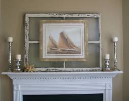 walnut and vine hang a photo or art print on an old mirror via