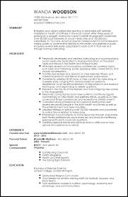 Personality Resume