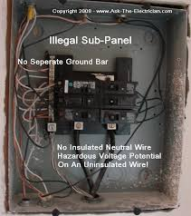 how to install and wire a sub panel illegal electrical sub panel