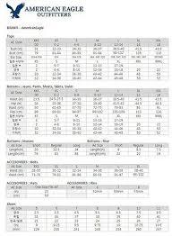 Women Jeans Size Chart Us American Eagle Shirt Size Chart Bedowntowndaytona Com