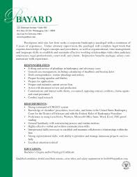 Experienced Paralegal Cover Letter Fresh Resume Cover Letter For