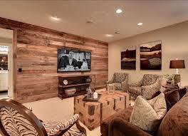Rustic Basement Bar Ideas Living Room