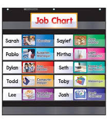 Pocket Chart Class Jobs Black