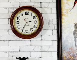 antikcart vintage style teakwood smiths enfield colonial wall clock wall decor view