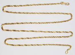 21k yellow gold singapore chain link necklace