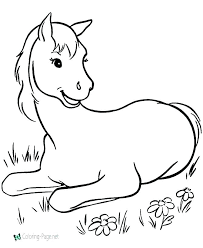 Coloring Seahorse Coloring Page Of A Horse Coloring Pages Horse