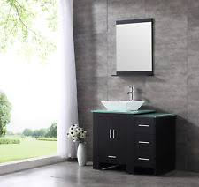 bathroom vanity cabinets with sinks. 36inch Black Bathroom Vanity Cabinet Top Single Vessel Sink And Faucet Combo Cabinets With Sinks D
