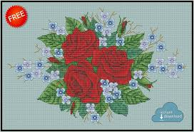 Cross Stitch Designs Free Download Pdf Roses And Violets Cross Stitch Pdf Xsd Download Free