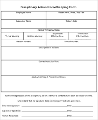 Employee Disciplinary Action Form Interesting Sample Employee Disciplinary Action Form 48 Examples In Word PDF