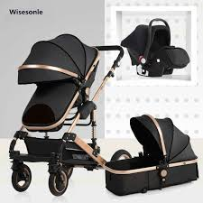 Wisesonle <b>High landscape</b> baby <b>stroller</b> can sit reclining0 3years old ...