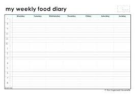 Free Printable Food Diary Sheets Best Log Template Post