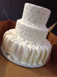 fondant draped cake - Google Search | Sweet Tooth | Pinterest ... & Fondant dress-style draping, scroll work, and quilting with crystals. Adamdwight.com