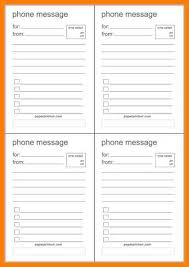 9 Free Telephone Message Templates Printable Trinity Training
