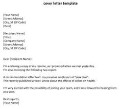 Resume Cover Letter Format 17 Awesome Collection Of Examples About