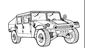 army truck coloring pages how to draw vehicles for s print military