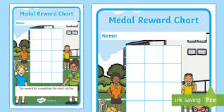 Sticker Chart Delectable Medal Themed Reward Chart Sticker Reward Charts Medal Themed