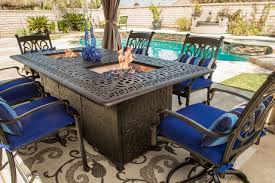 outdoor dining table and chairs. Outdoor Dining Set With Fire Pit Table Outdoor And Chairs A