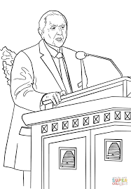 Thomas S. Monson Speaks at the General Conference coloring page ...